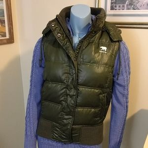 Olive Down Puffer Vest